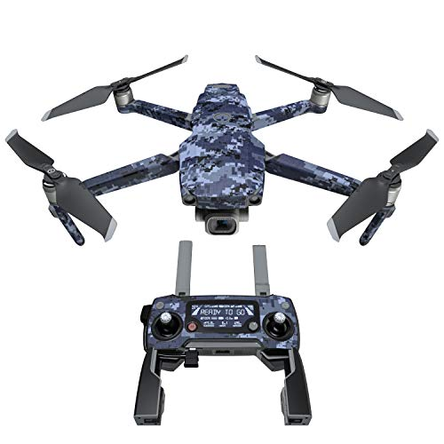 Digital Navy CamoDecal Kit for DJI Mavic 2/Zoom Drone - Includes 1 x Drone/Battery Skin + Controller Skin (Quadcopter Bus)
