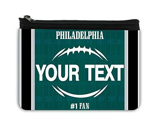 BRGiftShop Personalized Custom Name Football Team Philadelphia Neoprene Coin Purse