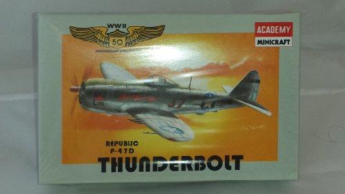 Fighter P-47d Thunderbolt (ACADEMY MINICRAFT WWII REPUBLIC P-47D THUNDERBOLT FIGHTER 1:144 SCALE MODEL KIT)