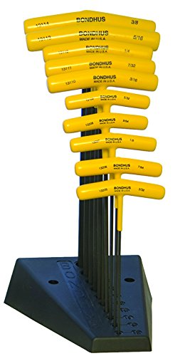 10 Balldriver and Hex T-handles with Stand, sizes 3/32-3/8-Inch ()
