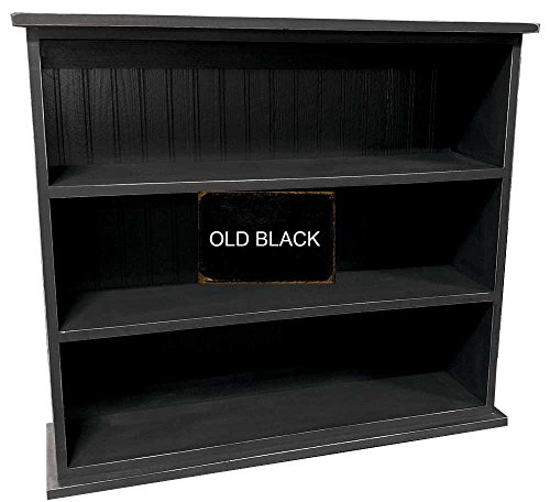 Sawdust City 91aSolid Wood Hall Bookcase, Old Black