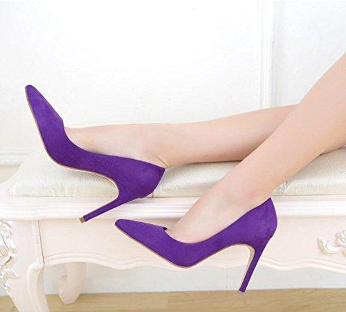 Tous Un 5 Seul 9 Violet Deux Mariage Chaussures Humides HGTYU Chaussures Ont Femme Point Treillis En Avec Chaussures De 34 Qui Chaussures Des Cm nax0vTzq