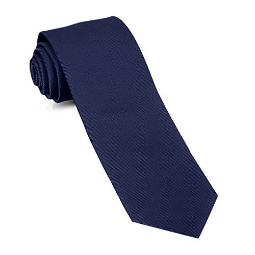 Handmade Skinny Woven Slim Mens Tie By Luther Pike: Thin Navy Blue Ties For Men, Stylish For Every Outfit (Seattle Tie)