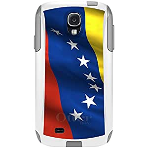 CUSTOM White OtterBox Commuter Series Case for Samsung Galaxy S4 - Venezuela Waving Flag