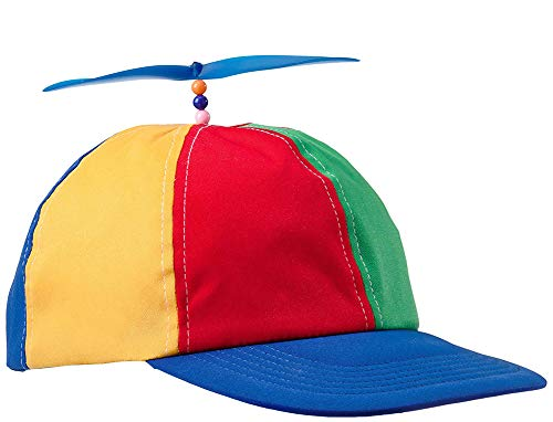 Novelty Giant Adult Propeller Brightly Colored Baseball Hat