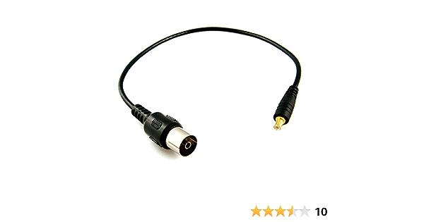 1x Cable de antena coaxial adaptador a mini coaxial para TDT USB HDTV DVB RF TV 155mm 4047