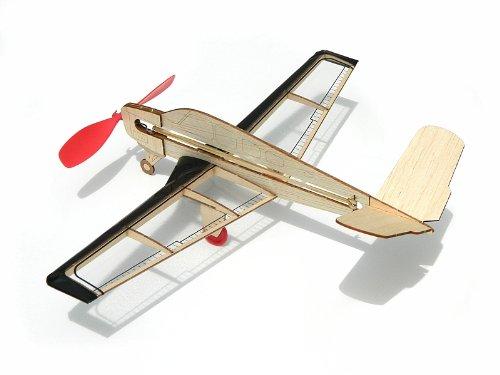 Stunt Flyer and V-Tail U.S Guillow miniModels Balsa Wood Model Airplane Set: 6 Laser Cut Wood Kits Included U.S German Fighter Hellcat Warhawk Rockstar Jet