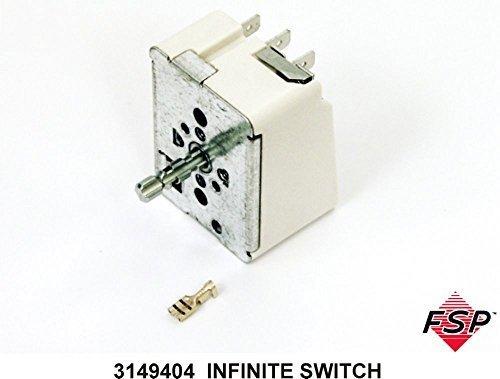 New Genuine OEM Whirlpool Range / Oven / Stove Electric Infinite Switch - Part # 3149404