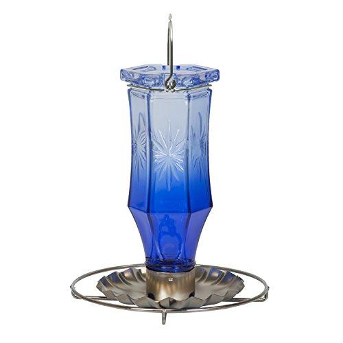 Perky-Pet Sapphire Starburst Vintage Glass Wild Bird Feeder