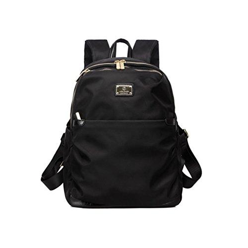 Bolso grande de la bolsa de hombro de la capacidad grande de la bolsa Bolso de la lona de la marea femenina de nylon Oxford que hace girar el bolso grande de la muñeca de la parte posterior del bolso  Negro