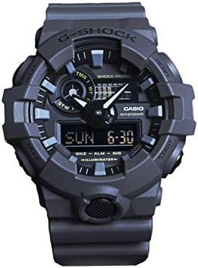 Casio Men's XL Series G-Shock Quartz 200M WR Shock Resistant Resin Color: Matte Grey (Model GA-700UC-8ACR)