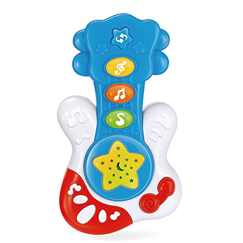 WEofferwhatYOUwant Portable First Guitar. Educational Toy for Music Learning and Entertainment for Ages 9 Months to 4 Years