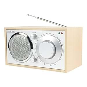 König HAV-TR13 - Radio portátil de estilo retro (AM/FM, 200 mW, RMS), color haya