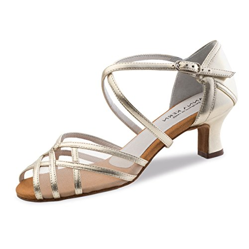 Anna Kern Mujeres Zapatos de Baile 580-50 - Cuero Oro - 5 cm Oro