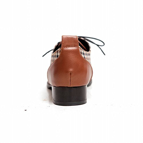 d46b6c227e2 50%OFF Carol Shoes Women s Fashion Lace-up Checkered Pattern Low Chunky  Heel Oxfords
