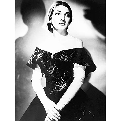 PHOTOGRAPHY MARIA CALLAS OPERA SINGER BLACK WHITE PORTRAIT 18X24'' POSTER ART PRINT LV10995 by Vivo