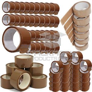 36 X Roll Buff Brown 48mm X 66M Meter Packaging Packing Tapes Parcel 2' Tape New STORM TRADING GROUP