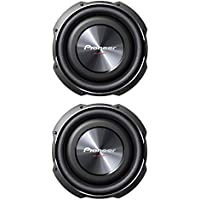 PIONEER TS-SW3002S4 12 1,500-Watt Shallow-Mount Subwoofer with Single 4ohm Voice Coil (Pair)