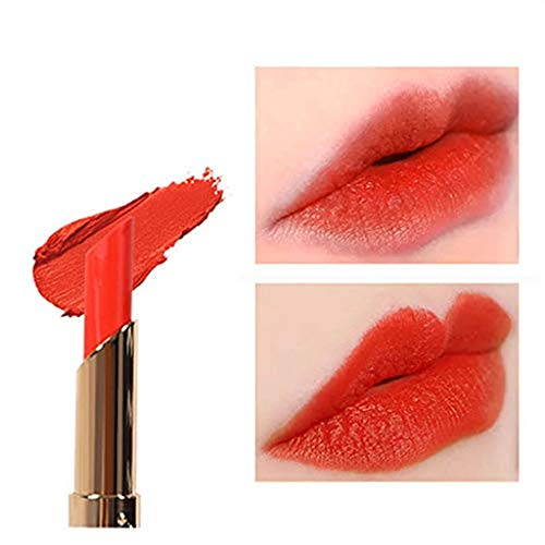 Sussmai Cosmetics Matte and Pumpkin Color Bean Paste Lip Solid Gloss Lipstick Long Last Lips Makeup