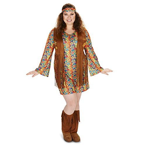 [Fringe 60s Adult Plus Costume 1X] (60s Costume)