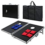 BBBuy Foldable Cornhole Toss Bean Bag Game Set MDF Board with Aluminum Frame (3FT x 2FT)