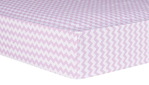 Trend Lab Orchid Bloom Chevron Fitted Crib Sheet, Purple by Trend Lab