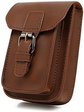 Mens Waist Bag Faux Leather Small Hook Belt Bag Cigarette Phone Case Pouch Messenger Shoulder Satchel