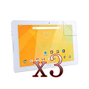 """YHC ER 3Pcs LCD Film Screen Protector Protector de pantalla For 10.1"""" Acer Iconia One 10 B3-A20 Tablet"""