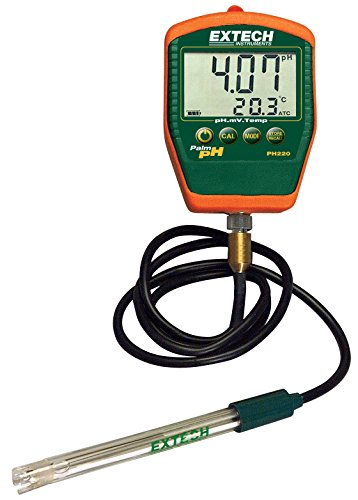 Extech PH220-C Waterproof Palm pH Meter with Cabled Electrode by Extech