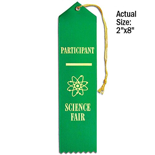 Set of 50 Science Fair Participant Ribbons - Carded (Ribbon Science Fair)