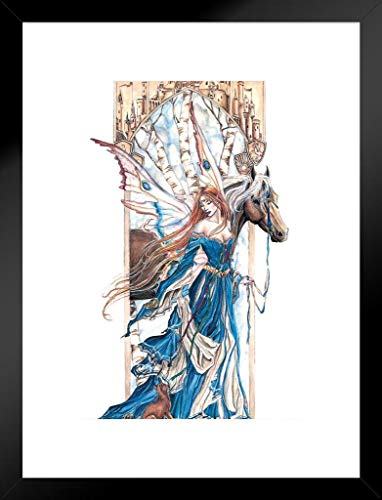 Pyramid America Fairy and Horse by Nene Thomas Art Print Matted Framed Poster 20x26 inch