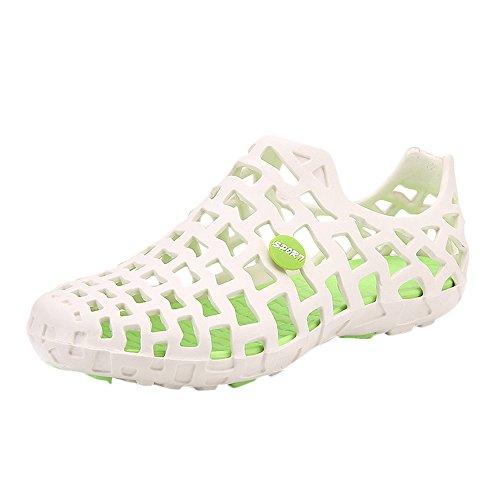 Vovotrade Unisexe Adulte Crocband Obstrue Chaussures Hommes Sandales De Plage Couple Respirant Occasionnels Tongs Engobe Blanc R