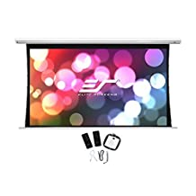 Elite Screens Saker Tab-Tension Series Tensioned Electric Drop Down Projection Screens, 120-Inch Diag. 16:9