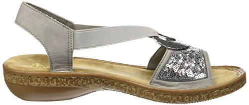 Women's Grey Chintz 40 Casual Rieker Sandals pCZZ4