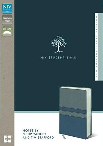 NIV, Student Bible, Imitation Leather, Gray/Blue