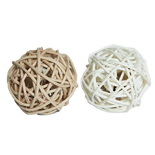 Jolly Moggy Rattan Balls  [silvervine cat toy]