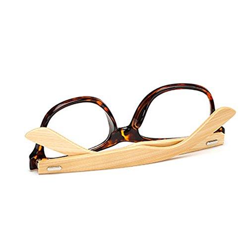 de Rimmed Huicai madera sol de de bambú Classic Horn con C21 Gafas templos EgwgvqnR