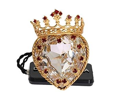 1cb36a159b5a Dolce   Gabbana Gold Brass Crystal Enchanted Sicily Heart Ring   Amazon.co.uk  Jewellery