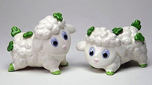 Shamrock Decorated Lambs Salt and Pepper Set