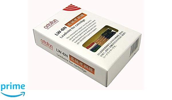 Ortofon LW-6N Cables para portacápsulas: Amazon.es: Electrónica