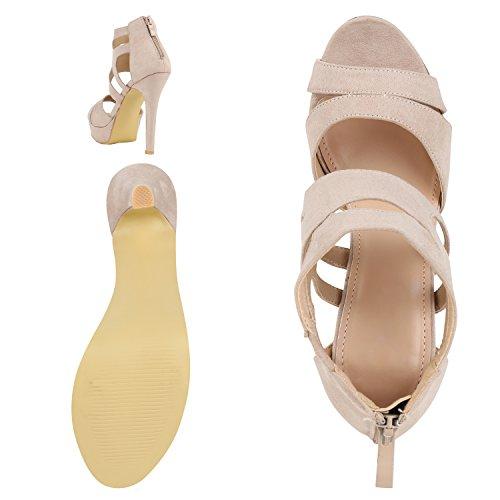 napoli-fashion - Sandalias de Punta Descubierta Mujer Beige
