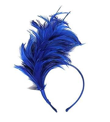 Felizhouse 1920s Fascinator with Feathers Headband for Women Kentucky Derby Wedding Tea Party Headwear