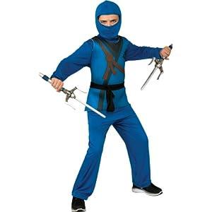 Ninja Costume, Blue, Medium