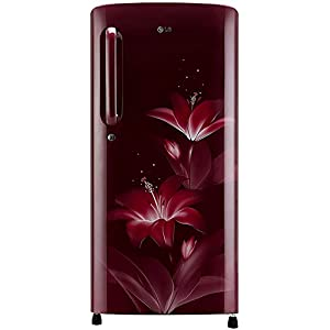 LG 190 L 4 Star Inverter Direct-Cool Single Door Refrigerator (GL-B201ARGY, Ruby Glow, Fastest Ice Making)