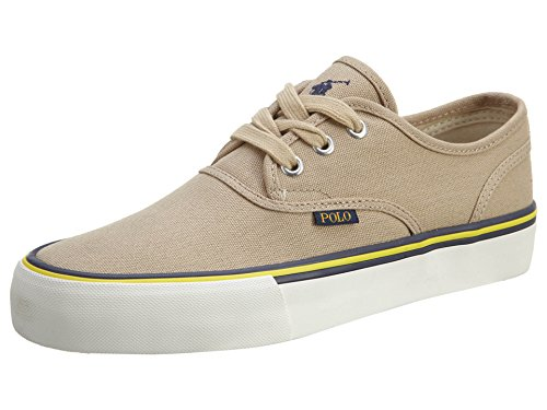 New Ralph Lauren Khaki (Polo Ralph Lauren Men's Morray Fashion Sneaker, Khaki Canvas, 13 D US)