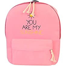 Sikiwind Fashion Canvas Letter Printing Backpack Preppy Style School Bag