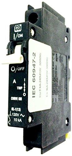 Control Circuit Breaker (SHAMROCK CONTROLS QL18KM15 QL Series Circuit Breaker, 1 Pole, 15 amp, Curve KM Equivalent to Curve C, AC Voltage, UL489)