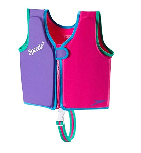 - Speedo Kids UPF 50+ Begin to Swim Classic Swim Vest, Berry/Grape, Medium
