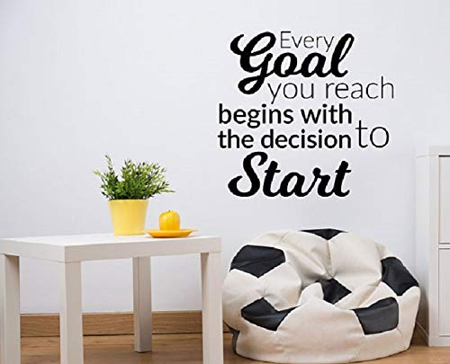 Every Goal You Reach Begins With The Decision To Start