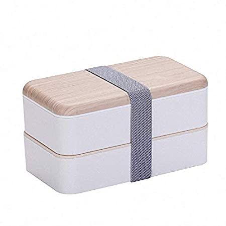 SYGF Box Bambú Bento Box con Compartimientos HerméTicos Ycubiertos ...
